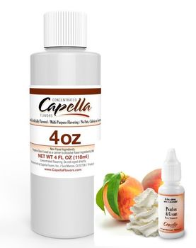 Capella Flavors Peaches & Cream aromitiiviste ISO PULLO 118ml